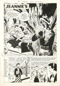 """Original Comic Art:Complete Story, Ray Bailey - Hi-School Romance #58 Complete 5-page Story """"Jeannie'sMan"""" Original Art (Harvey, 1956). Jeannie is forced to g... (Total:5 Items)"""