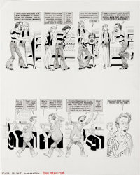 """Dave Berg - Mad #202 and 221 Complete 5-page Story """"The Lighter Side of..."""" Original Art, Group of 2 (EC, 1978..."""