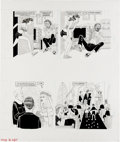 """Original Comic Art:Complete Story, Dave Berg - Mad #258 Complete 5-page Story """"The Lighter Side of...""""Original Art, Group of 2 (EC, 1985). Dave Berg does it a... (Total:5 Items)"""
