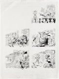 "Original Comic Art:Complete Story, Jack Davis - Mad #265 Complete 2-page Story ""'The Mad Sports FanHate Book"" Original Art (EC, 1986). Gird yourself for two p..."