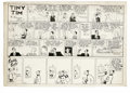 Original Comic Art:Comic Strip Art, Stanley Link - Tiny Tim Sunday Comic Strip Original Art, Group of 3(Chicago Tribune, 1945). The Clay family tries to adjust... (Total:3 Items)
