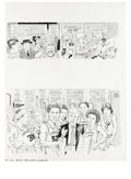 """Original Comic Art:Complete Story, Angelo Torres - Mad #214 Complete 6-page Story """"The White,Shadowed"""" Original Art (EC, 1980). Hoo-hah! Athletic AngeloTorre... (Total: 6 Items)"""