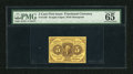 Fractional Currency:First Issue, Fr. 1230 5c First Issue PMG Gem Uncirculated 65. A wonderful example of this first issue type note that has excellent color,...