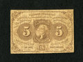 Fractional Currency:First Issue, Fr. 1230 5c First Issue Fine. A moderately circulated type note with broad margins and ABNCo monogram....