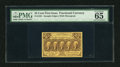 Fractional Currency:First Issue, Fr. 1281 25c First Issue PMG Gem Uncirculated 65. A splendid example of this first issue type note which is fairly common in...