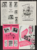 """Movie Posters:Rock and Roll, Rock and Roll Lot (Various, 1950). Pressbooks (9) (Multiple Pages,11"""" X 17"""" & 12"""" X 15""""), Ad-Supplements (4) (Multiple Page...(Total: 14 Items)"""