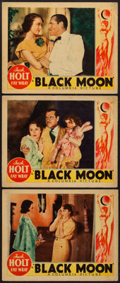 "Black Moon (Columbia, 1934). Lobby Cards (3) (11"" X 14""). Horror. ... (Total: 3 Items)"