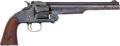 Handguns:Single Action Revolver, Smith & Wesson 2nd Model American No. 3 Single Action Revolver Factory Cut for Shoulder Stock....