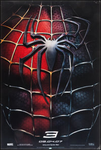 """Spider-Man 3 (Columbia, 2007). Lenticular One Sheet (27"""" X 40"""") Advance. Action"""