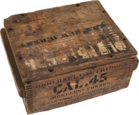 The Union Metallic Cartridge Co. Wooden Crate of Gatling Gun Ammunition