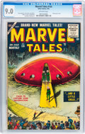 Golden Age (1938-1955):Science Fiction, Marvel Tales #134 (Atlas, 1955) CGC VF/NM 9.0 Off-white pages....