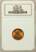 Lincoln Cents, 1927 1C MS66 Red NGC. NGC Census: (144/17). PCGS Population(220/37). Mintage: 144,440,000. Numismedia Wsl. Price for probl...