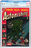 Golden Age (1938-1955):Horror, Astonishing #29 (Atlas, 1954) CGC VF+ 8.5 Off-white pages....