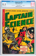 Golden Age (1938-1955):Superhero, Captain Science #7 (Youthful Magazines, 1951) CGC VF+ 8.5 Off-white to white pages....