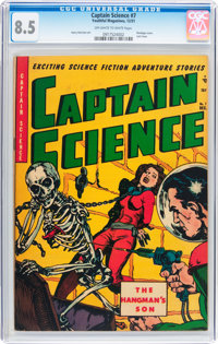 Captain Science #7 (Youthful Magazines, 1951) CGC VF+ 8.5 Off-white to white pages