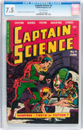 Golden Age (1938-1955):Science Fiction, Captain Science #4 (Youthful Magazines, 1951) CGC VF- 7.5 Off-whitepages....