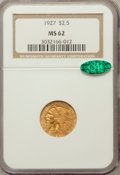 Indian Quarter Eagles: , 1927 $2 1/2 MS62 NGC. CAC. NGC Census: (4894/6828). PCGS Population(2660/5149). Mintage: 388,000. Numismedia Wsl. Price fo...