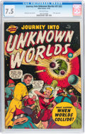 Golden Age (1938-1955):Science Fiction, Journey Into Unknown Worlds #37 (#2) (Atlas, 1950) CGC VF- 7.5Off-white pages....