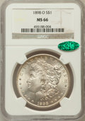 Morgan Dollars: , 1898-O $1 MS66 NGC. CAC. NGC Census: (1862/174). PCGS Population(1869/159). Mintage: 4,440,000. Numismedia Wsl. Price for ...