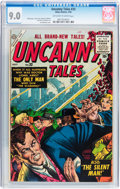 Golden Age (1938-1955):Science Fiction, Uncanny Tales #33 (Atlas, 1955) CGC VF/NM 9.0 Off-white to whitepages....