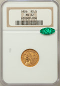 Indian Quarter Eagles: , 1926 $2 1/2 MS62 NGC. CAC. NGC Census: (5698/8340). PCGS Population(3077/6450). Mintage: 446,000. Numismedia Wsl. Price fo...
