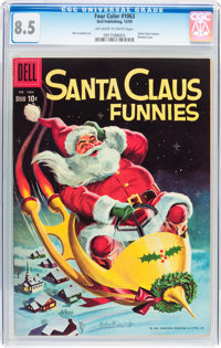 Four Color #1063 Santa Claus Funnies (Dell, 1959) CGC VF+ 8.5 Off-white to white pages