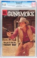 Silver Age (1956-1969):Western, Four Color #797 Gunsmoke - File Copy (Dell, 1957) CGC VF/NM 9.0Off-white to white pages....
