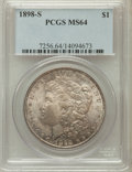 Morgan Dollars: , 1898-S $1 MS64 PCGS. PCGS Population (1166/468). NGC Census:(607/113). Mintage: 4,102,000. Numismedia Wsl. Price for probl...