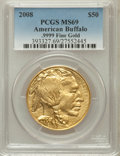 Modern Bullion Coins, 2008 $50 One-Ounce American Buffalo MS69 PCGS. Ex: .9999 Fine Gold.PCGS Population (1184/491). NGC Census: (6981/7472)....