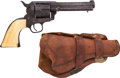Handguns:Single Action Revolver, 5-Digit Colt Single Action Revolver with Mexican Loop Holster. ...