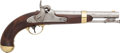 Handguns:Muzzle loading, U.S. H. Aston Model 1842 Single-Shot Percussion Pistol. ...