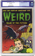 "Golden Age (1938-1955):Horror, Weird Tales of the Future #4 (Aragon, 1952) CGC VF- 7.5 Cream tooff-white pages. Basil Wolverton drew this issue's ""Jumpin ..."
