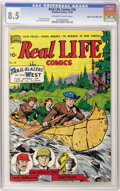 Golden Age (1938-1955):Non-Fiction, Real Life Comics #50 Mile High pedigree (Nedor Publications, 1949)CGC VF+ 8.5 Off-white to white pages. What more could a f...
