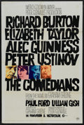 "Movie Posters:Drama, The Comedians (MGM, 1967). One Sheet (27"" X 41""). Drama. Starring Richard Burton, Elizabeth Taylor, Alec Guinness and Peter ..."