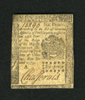 Colonial Notes:Pennsylvania, Pennsylvania October 25, 1775 6d Extremely Fine. Although themargins are trimmed tight this is still a satisfying example o...
