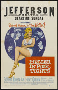 """Movie Posters:Western, Heller in Pink Tights (Paramount, 1960). Window Card (14"""" X 22""""). Western Comedy. Starring Sophia Loren, Anthony Quinn, Eile..."""