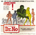 "Movie Posters: , Dr. No (United Artists, 1962). Six Sheet (81"" X 81""). James Bond,Secret Agent 007, was first introduced to audiences via th..."