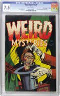 "Golden Age (1938-1955):Horror, Weird Mysteries #6 Davis Crippen (""D"" Copy) pedigree (Gillmor,1953) CGC VF- 7.5 Off-white pages. Bernard Baily rendered thi..."