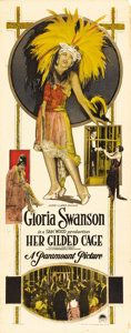 """Movie Posters:Romance, Her Gilded Cage (Paramount, 1922). Insert (14"""" X 36""""). Based on theplay """"The Love Dreams"""" by Elmer Harris, Gloria Swanson's..."""