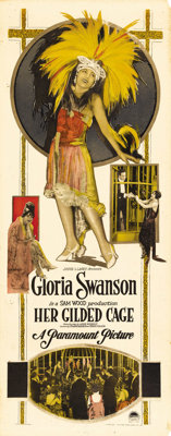 """Her Gilded Cage (Paramount, 1922). Insert (14"""" X 36""""). Based on the play """"The Love Dreams"""" by Elmer..."""