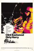 """Movie Posters:Action, Dirty Harry (Warner Brothers, 1971). One Sheet (27"""" X 41""""). This isthe film that established Clint Eastwood as a cinema ico..."""