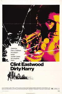 """Dirty Harry (Warner Brothers, 1971). One Sheet (27"""" X 41""""). This is the film that established Clint Eastwood a..."""