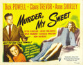 """Movie Posters:Film Noir, Murder My Sweet (RKO, 1944). Half Sheet (22"""" X 28"""") Style A. Hisname is Phillip Marlowe, and for the right price, he'll fol..."""