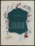 Movie Posters:Animated, Fantasia (RKO, 1940). Program (Multiple Pages). This is a vintage,original program for Walt Disney's animated masterpiece t...