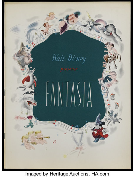 Fantasia Rko 1940 Program Multiple Pages This Is A Vintage Lot 25066 Heritage Auctions