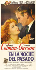 "Movie Posters:Drama, Random Harvest (MGM, 1942). Spanish Three Sheet (41.5"" X 79.51"").Fabulous artwork of Greer Garson and Ronald Colman for thi..."