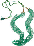 Estate Jewelry:Necklaces, Emerald Bead Necklace. The necklace is composed of faceted emeraldrondelles ranging in size from 2.00 to 4.50 mm, forming...