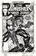 Original Comic Art:Covers, Hoang Nguyen - The Punisher: War Zone #20 Cover Original Art(Marvel, 1993). Blazing cover illustration by comic book and vi...