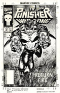 Original Comic Art:Covers, Hoang Nguyen - The Punisher: War Zone #21 Cover Original Art(Marvel, 1993). This action-packed cover illustration by Hoang ...
