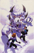 Original Comic Art:Covers, Greg Hildebrandt - Gatecrasher #4 Cover Original Art (Black Bull,2000). A senses-shattering snow beast like this fellow cer...